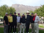 Playing golf at Superstition Mountain in 2006  Jim Naughton, Earl Clark, Charlie Stewart, Robert Galusha, Paul Baker, Le